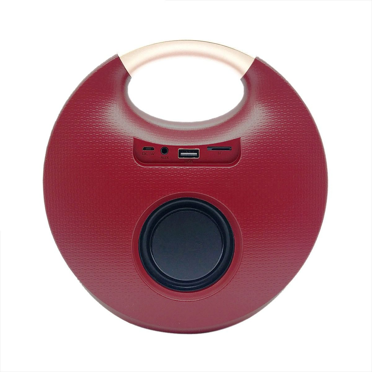Caixa Portátil Studio Speaker Bluetooth com Alça e Tecnologia TWS + USB P2 SD FM Microfone Exbom CS-M90BT Vermelha