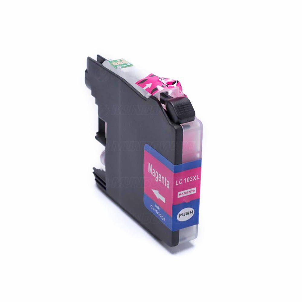 Compatível: Cartucho de Tinta LC103 LC105 LC107 XL para Brother MFC-J4510 J4710dw J6520 J6720dw J6920dw / Magenta / 20ml