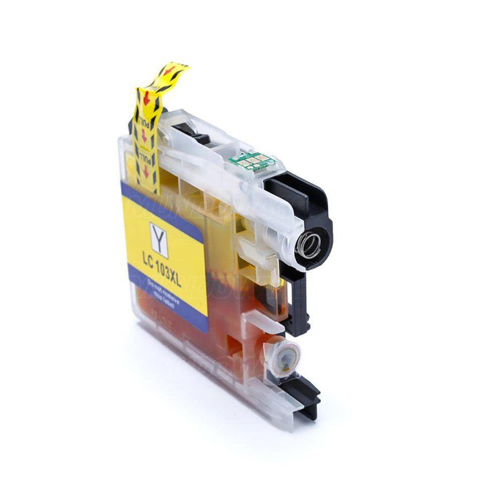 Compatível: Cartucho de Tinta LC103 LC105 LC107 XL para Brother MFC-J4310 J4510 J4410 J4610 J6520 J6920 / Amarelo / 20ml