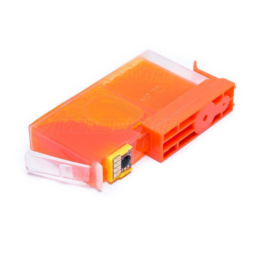 Compatível: Cartucho de Tinta 670xl 670 para Impressora HP 6520 6525 4615 4625 5525 3525 / Amarelo / 14ml