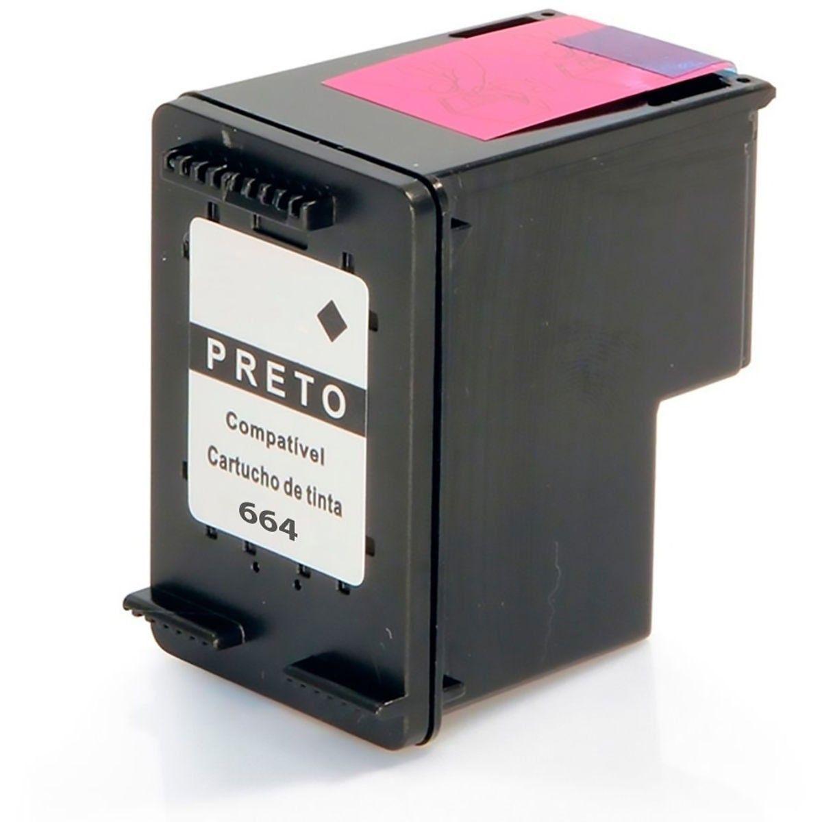 Compatível: Cartucho de Tinta 664xl 664 para Impressora HP 1115 F5S21a 2136 F5S30a 3636 3836 4536 / Preto / 14ml