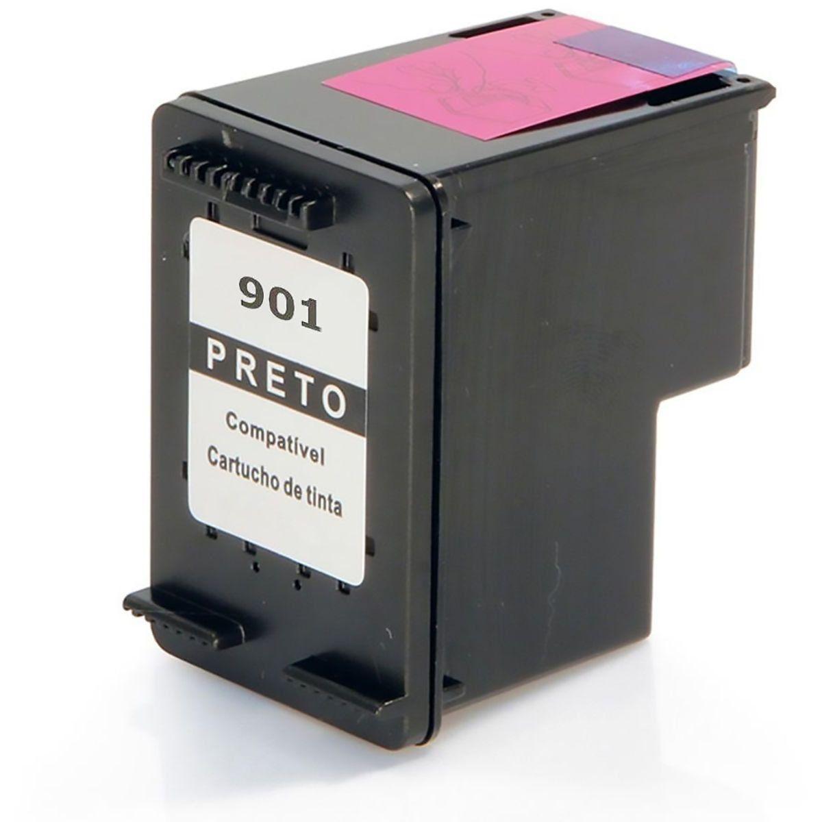 Compatível: Cartucho de Tinta 901 para HP J4540 J4550 J4580 J4680 J4660 J4500 J-4540 J-4550 J-4580 / Preto / 13ml