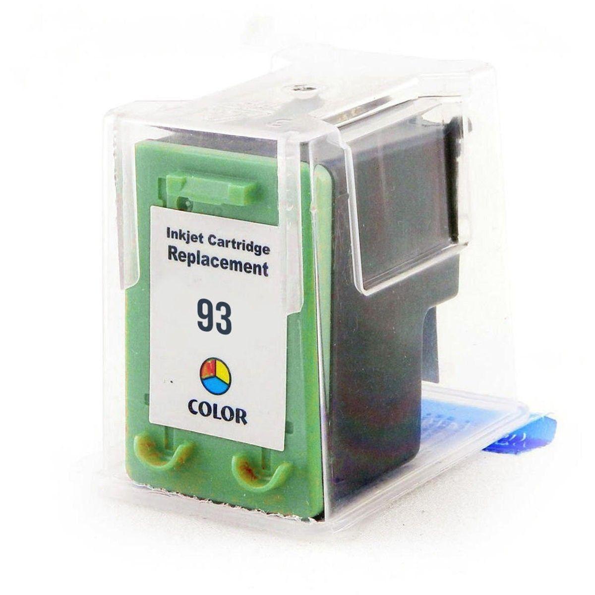 Compatível: Cartucho de Tinta 93 para HP 1510 C3180 C3100 D4100 1507 5440 6210 2570 PSC1510 3180 / Colorido / 9ml