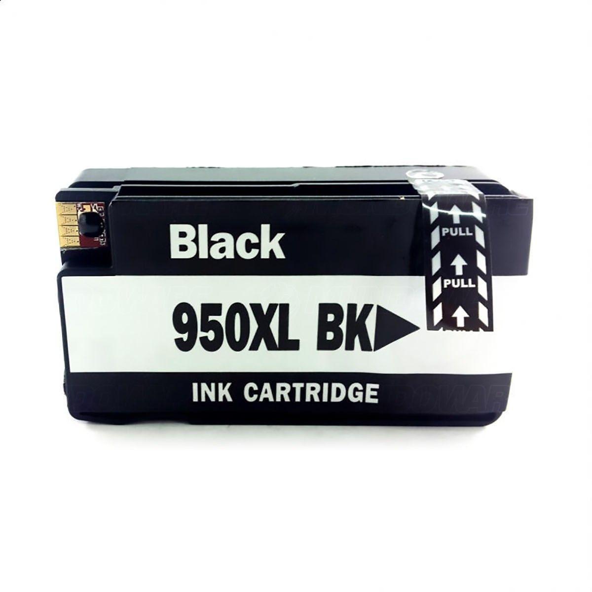 Compatível: Cartucho de Tinta 950xl 950 para Impressora HP Pro 8600 8600w 8100 8620 8610 251dw N811 / Preto / 74ml