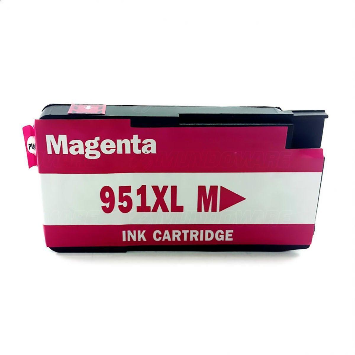Compatível: Cartucho de Tinta 951xl 951 para HP Pro 8600 8100 8600w 8620 8610 251dw N811a N911g / Magenta / 27ml