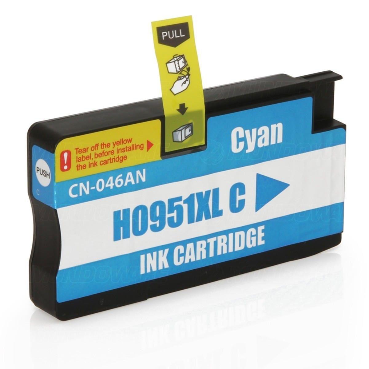 Compatível: Cartucho de Tinta 951xl 951 para HP Pro 8600w 8620 8610 8100 8600 251dw N811d N911g / Ciano / 27ml