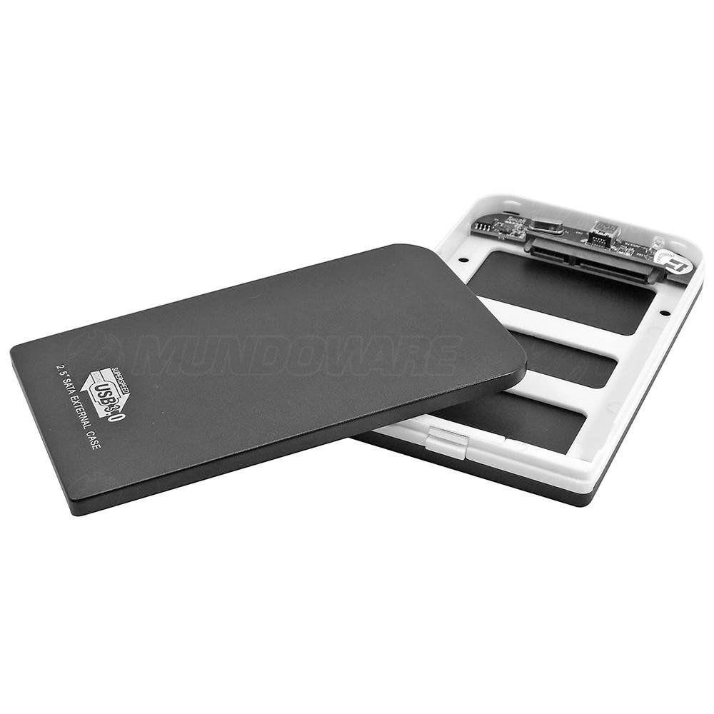 """Case USB 3.0 para HD Sata 2.5"""" Externo em Alumínio com Bolsa Exbom CGHD-30"""