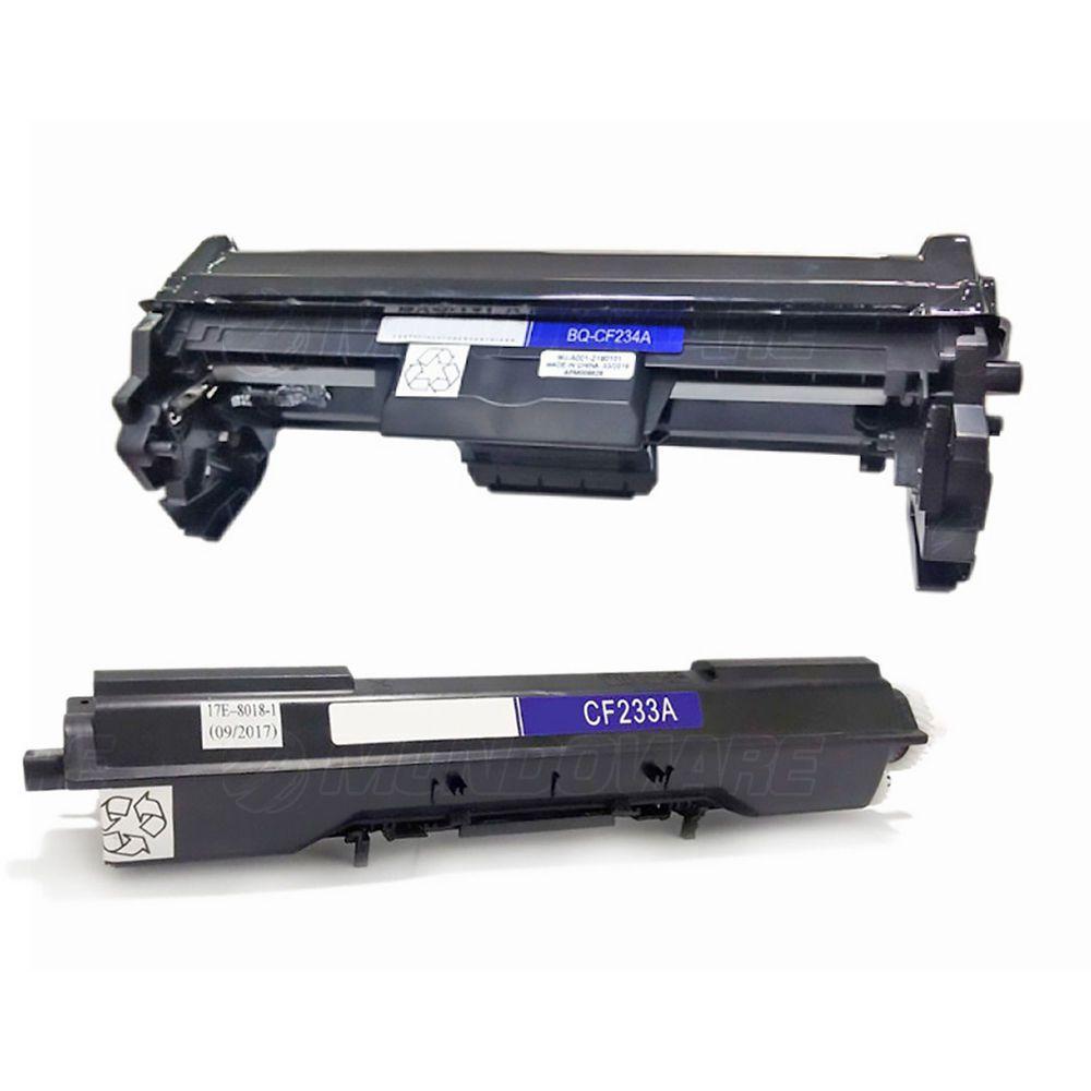 Compatível: Combo Fotocondutor CF234A + Toner CF233A para Impressora HP M106w M134a mfp M134fn mfp M106 M134