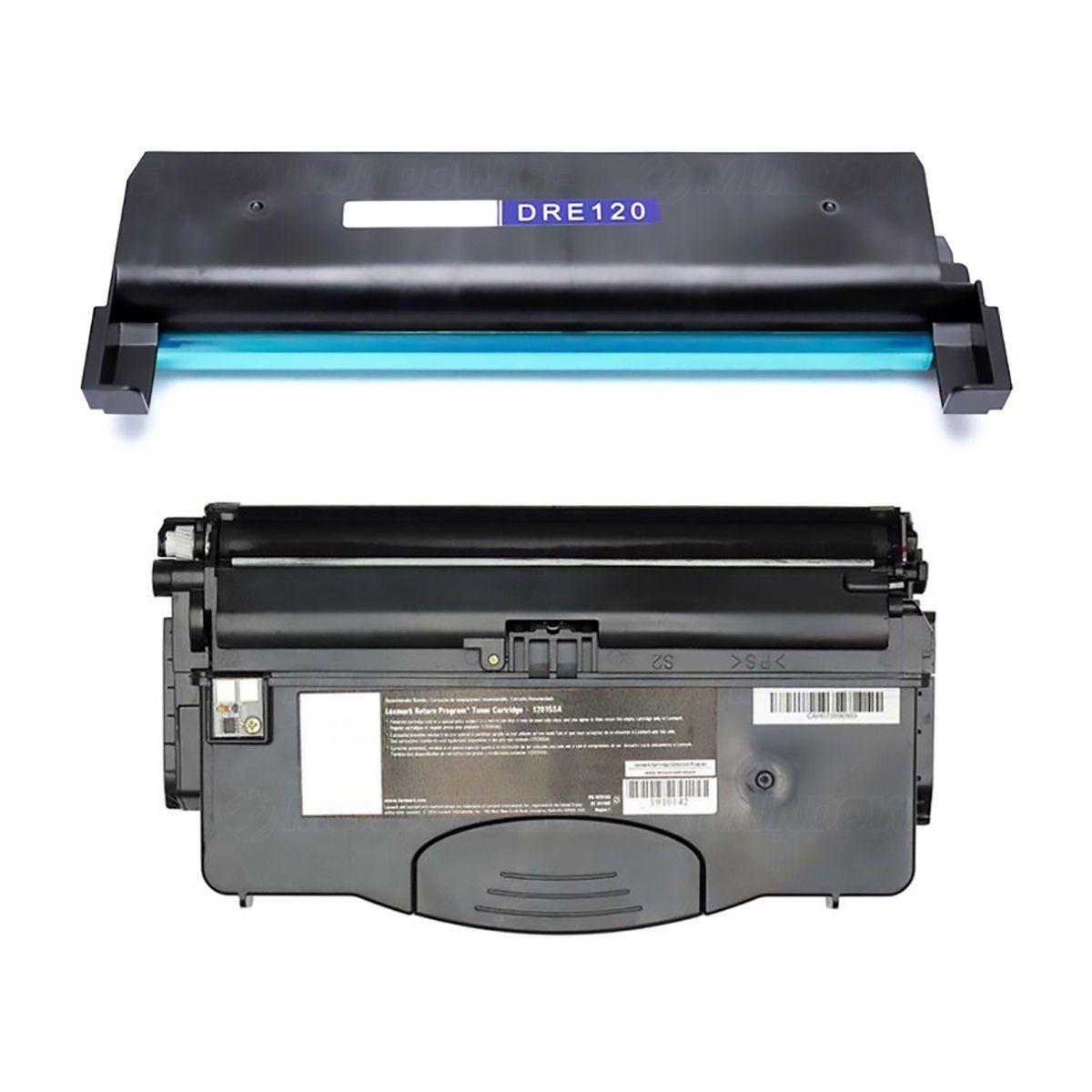 Compatível: Combo Fotocondutor DRE120 + Toner E120 para impressora Lexmark E120 E120n