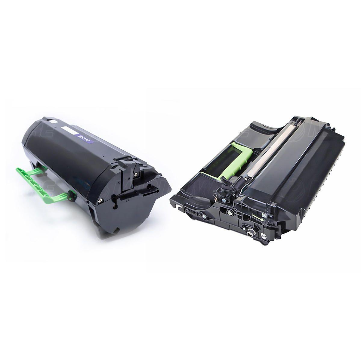 Compatível: Combo Fotocondutor + Toner para Lexmark MS310 MS410 MS510 MS610 MS415 MS310dn MS410dn MS510dn MS610dtn