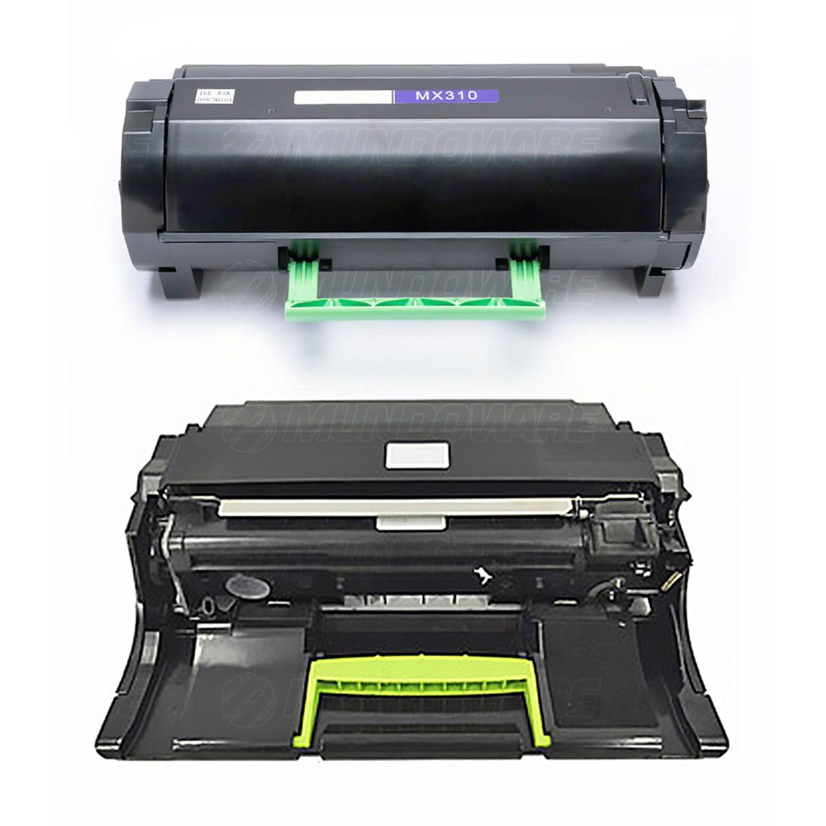 Compatível: Combo Fotocondutor + Toner para Lexmark MX310 MX410 MX510 MX511 MX610 MX310dn MX410de MX511de MX611dhe