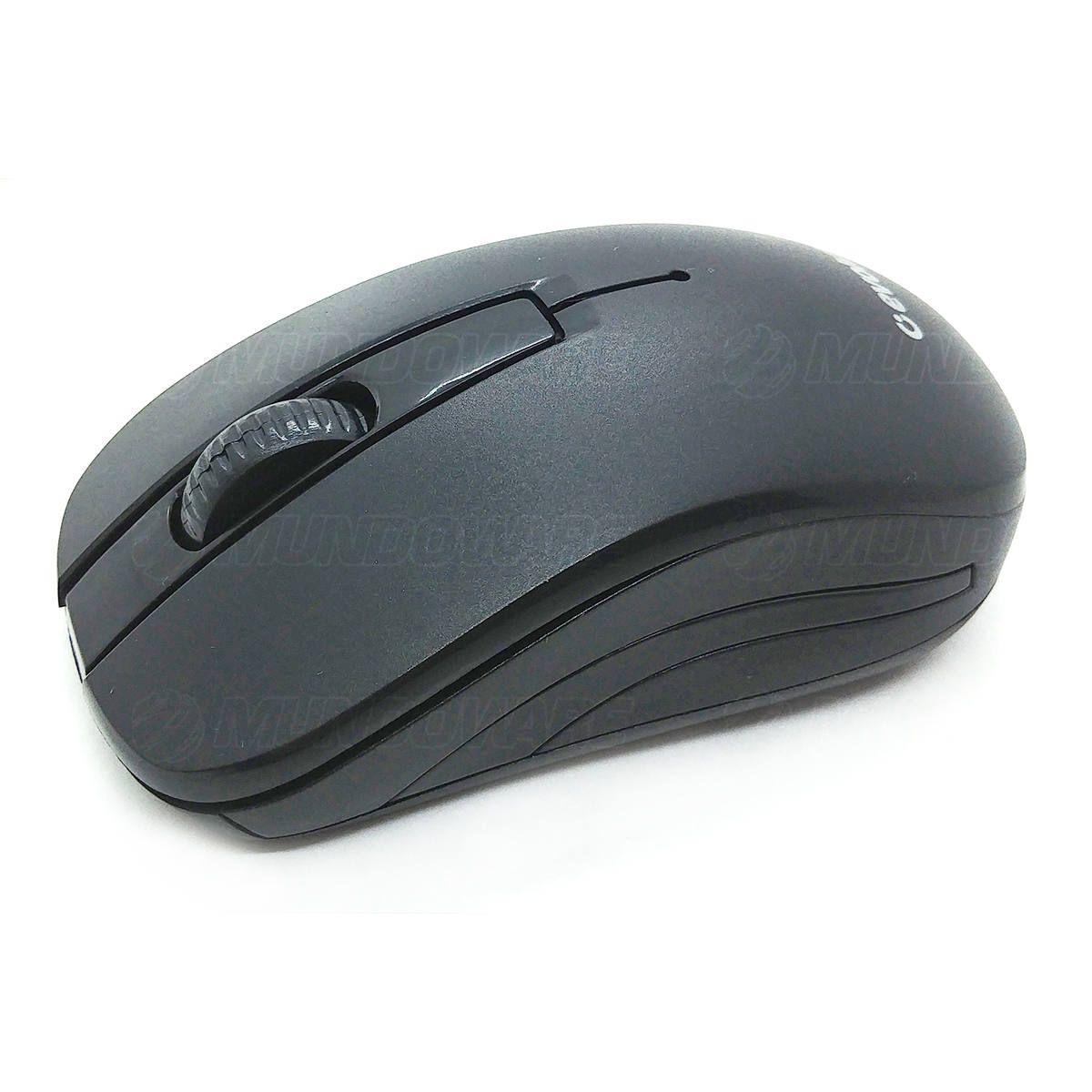 Combo Teclado e Mouse Wireless Padrão ABNT2 pt-br Evolut EO502 Preto