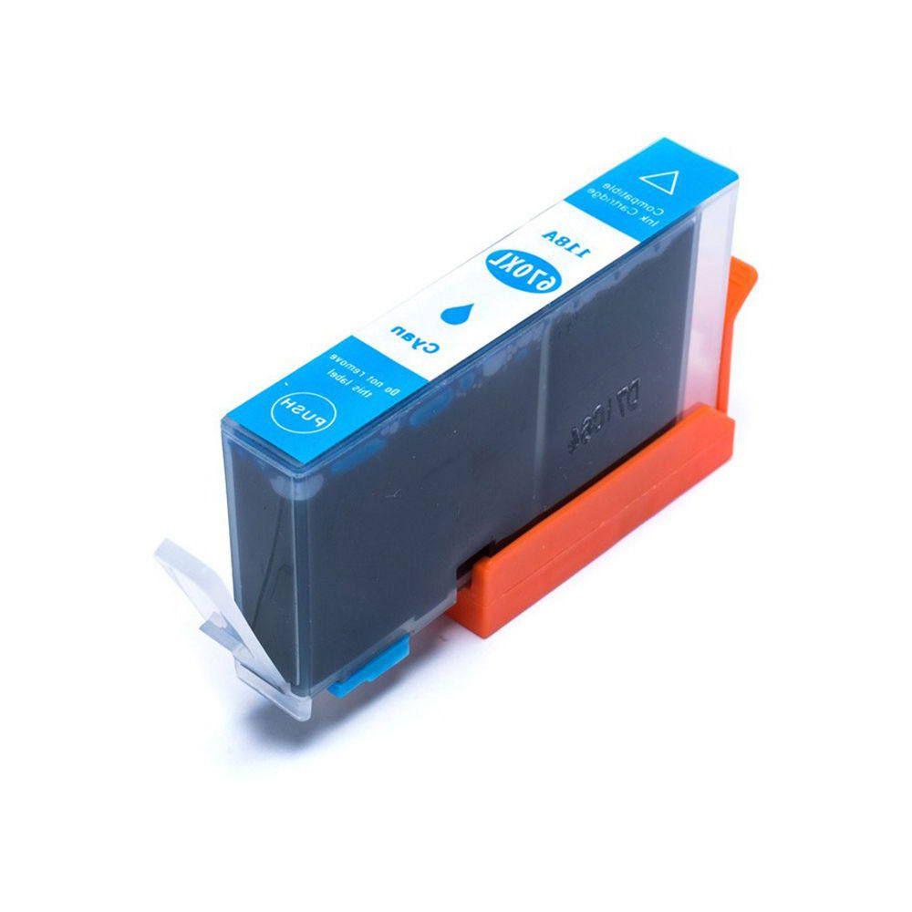 Compatível: Cartucho de Tinta 670xl 670 para Impressora HP 4625 4615 3525 5525 6520 6525 / Ciano / 14ml