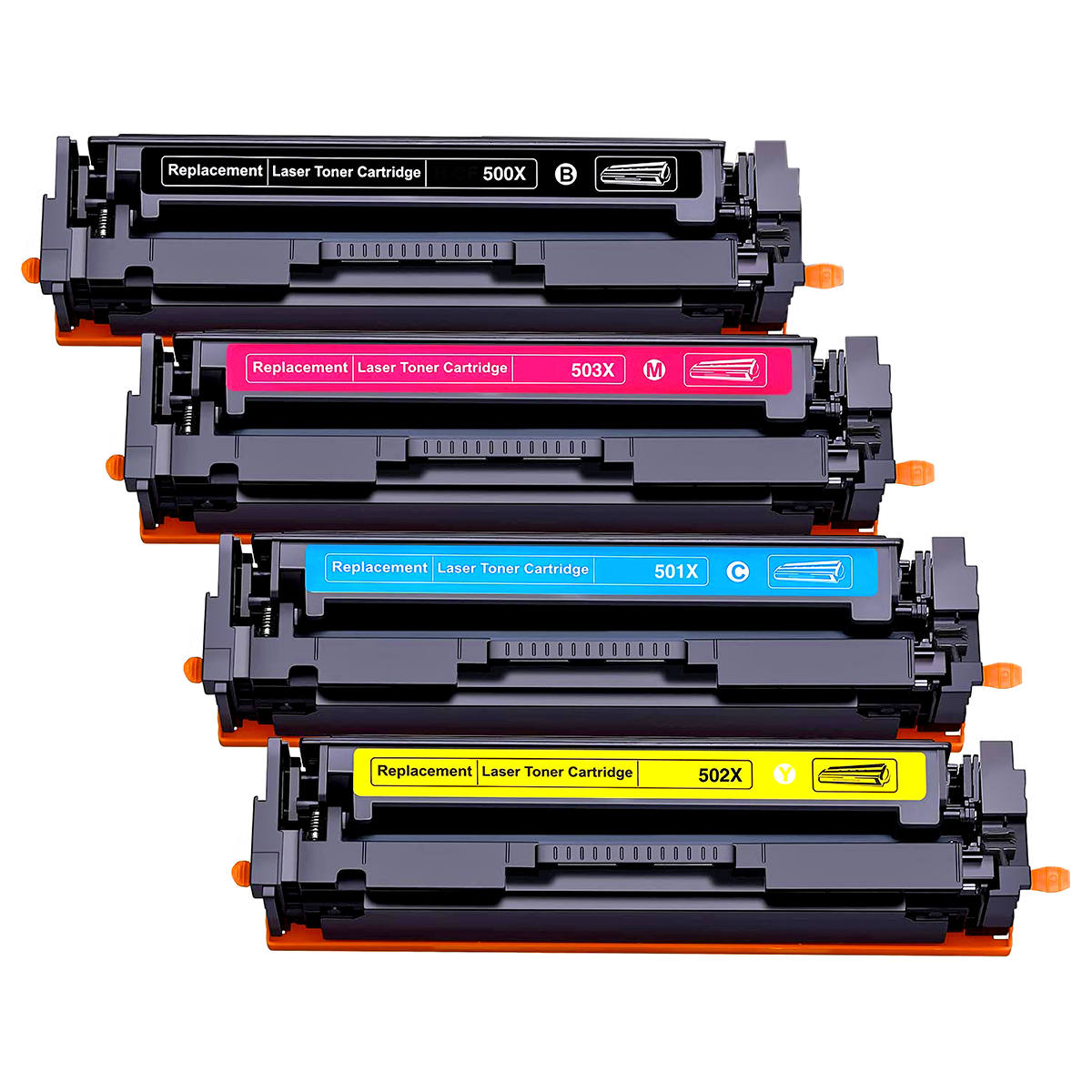 Compatível: Kit Colorido de Toner CF-500X CF-501X CF-502X CF-503X 202X para HP M254 M254dn M280 M280nw M281 M281fdw