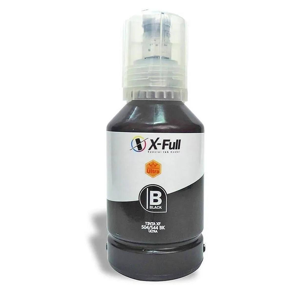 Compatível: Tinta Pigmentada X-Full Ultra para Epson L3110 L3111 L3158 L4150 L4168 L6160 L6168 L6178 / Preta / 127ml