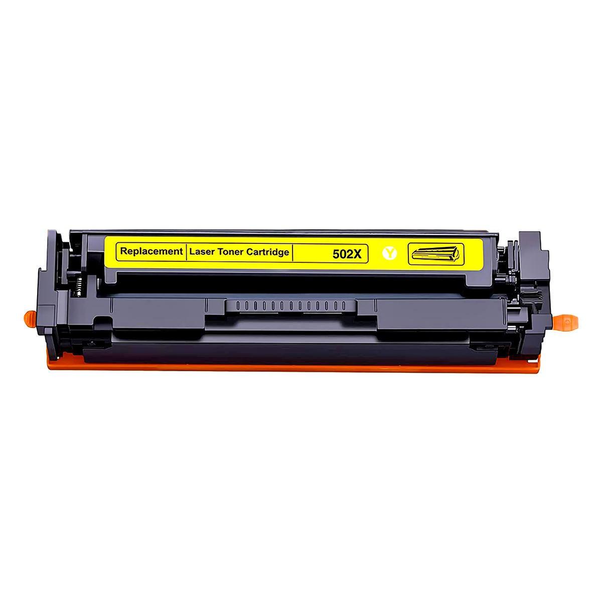 Compatível: Toner CF-502X 202X para Impressora HP M281 M 281nw M280 M 280nw M254 M 254dn M 254dw Amarelo 2.500