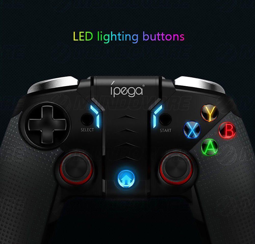 Controle Bluetooth para Celular Android PC Smart TV com Modo Turbo Iluminação LED e Vibração IPEGA PG-9099 Original