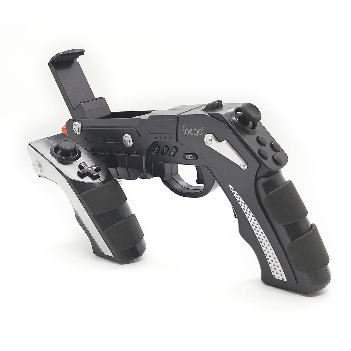 Controle Gamepad Gun Phantom Shox Bluetooth em Formato de Arma para Jogos de Tiro para Celular Ipega PG-9057 Original