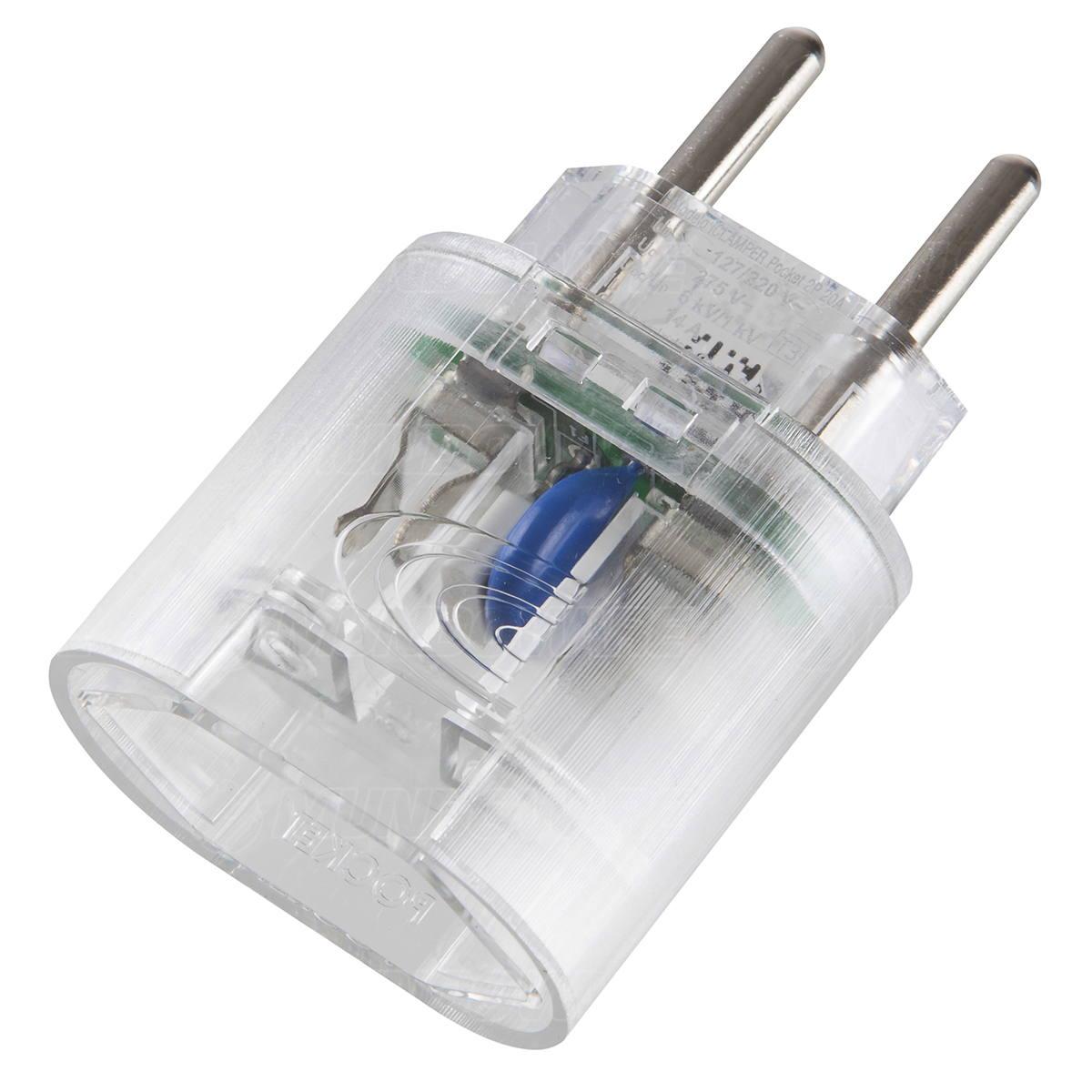 DPS 2 pinos 20A Bivolt iClamper Pocket 2P Transparente Proteção Contra Raios e Surtos mesmo em ambientes sem aterramento