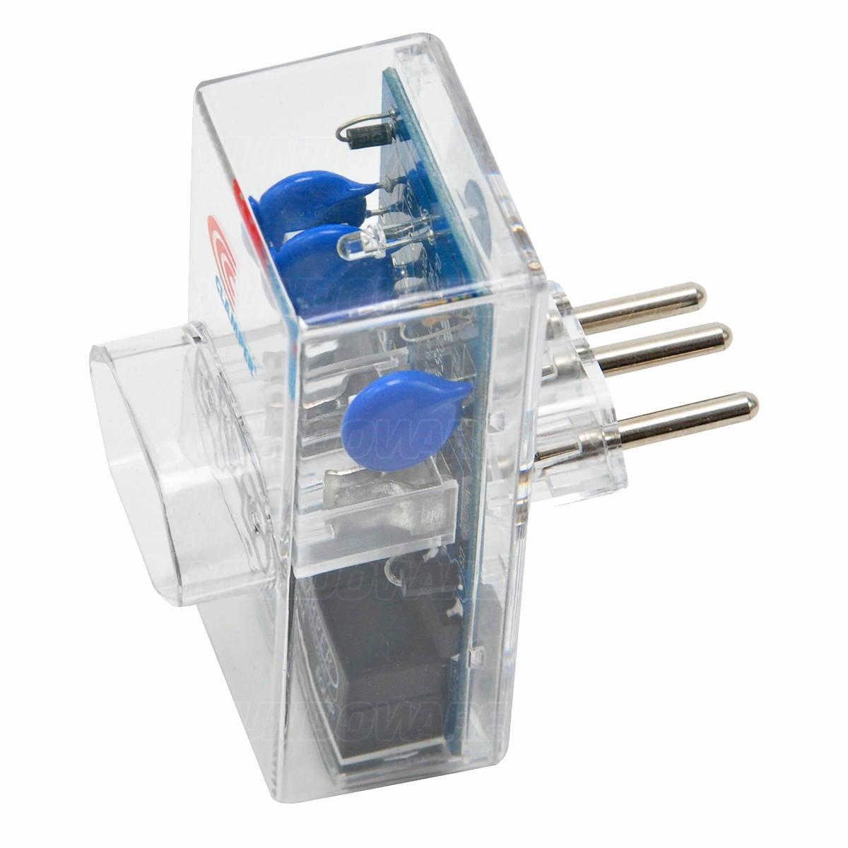 DPS Clamper Energia + Ethernet Proteção contra Raios e Surtos na Rede Elétrica e via Conector RJ45 Bi 10A Transparente