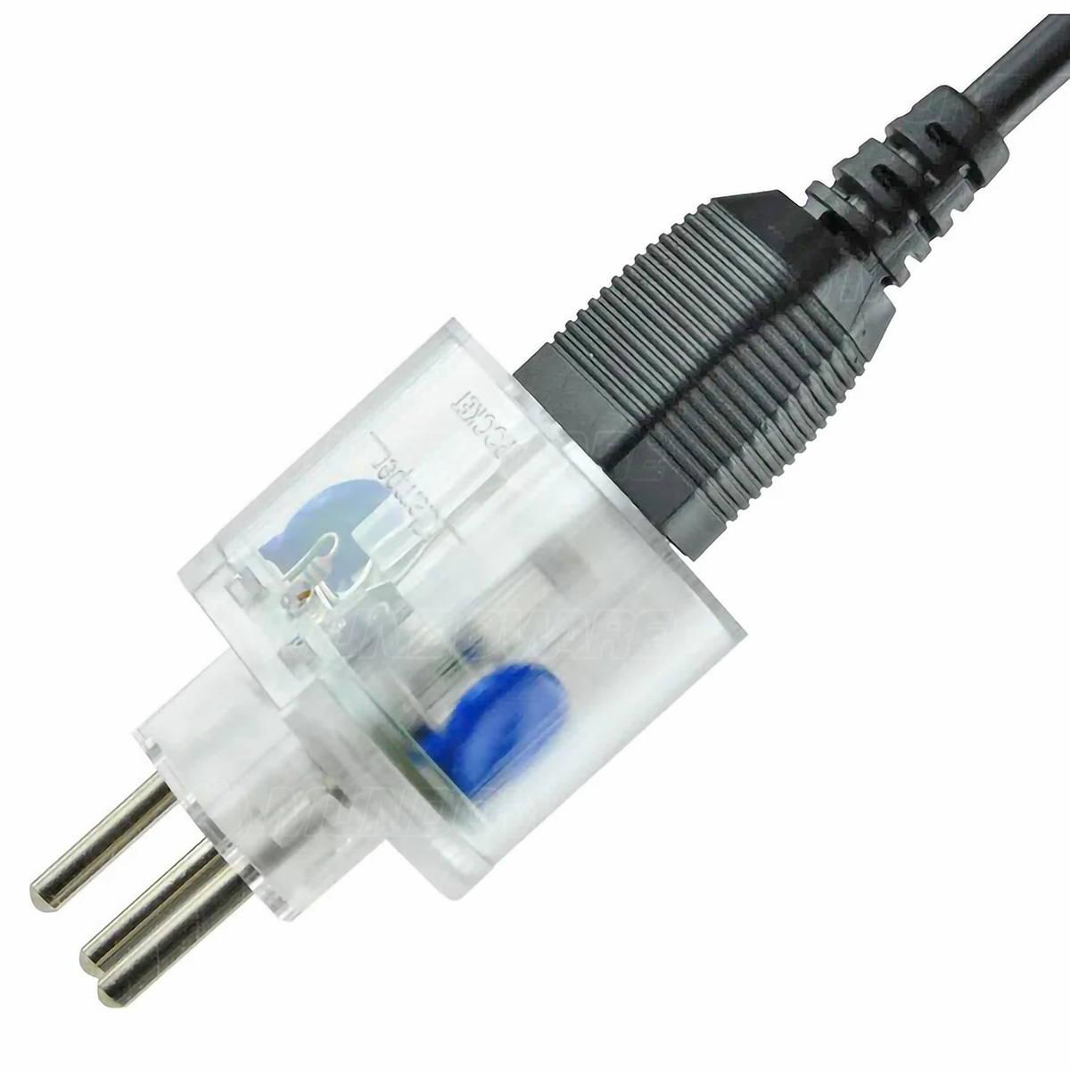 DPS iClamper Pocket X 3PN Plug & Use para Entrada Padrão NEMA 2P+T e Saída (Tomada) Padrão Brasileiro 3P Transparente