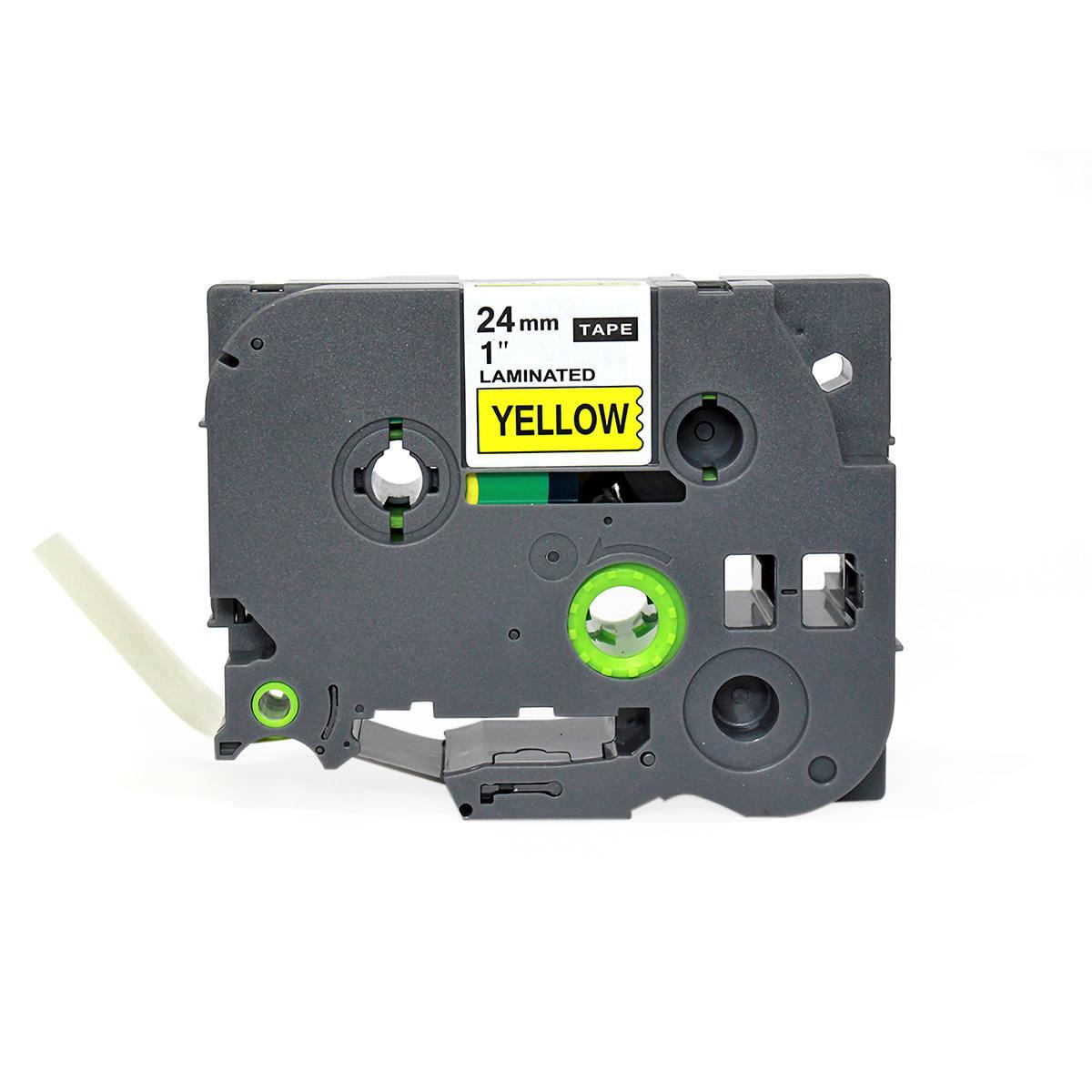Fita Compatível para Rotulador 24mm x 8m Amarelo/Preto Marca X-Full Referência TZc-651 TZe-651 TZ-651 para Brother