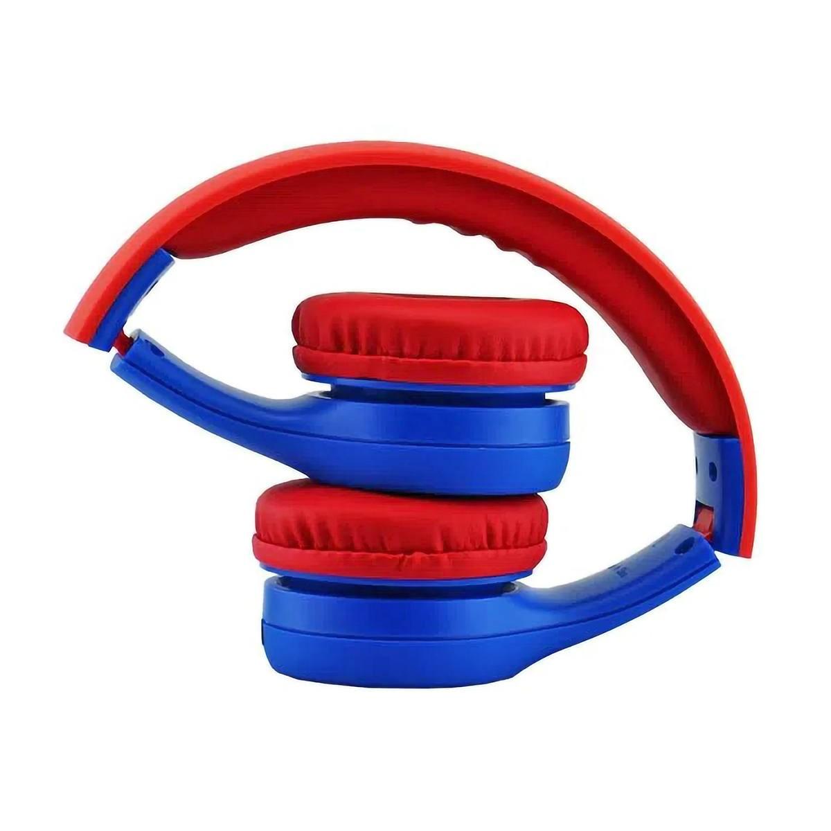 Fone de Ouvido para Criança com Limitador de Volume até 85DB Antialérgico Dobrável Cabo Removível ELG Kids Spider