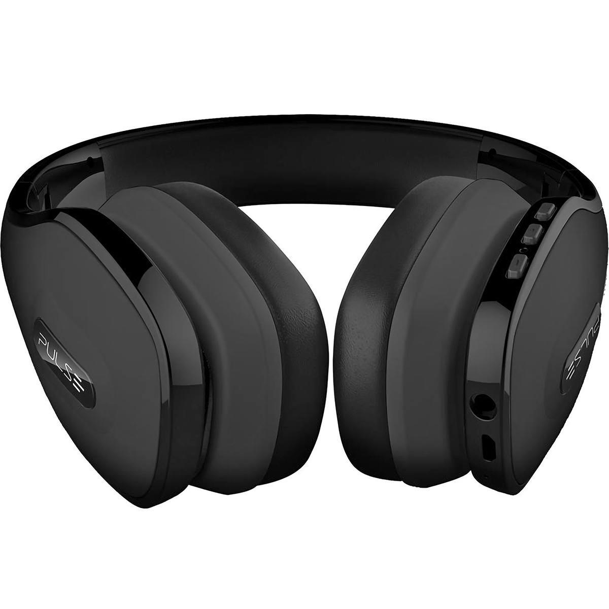 Headphone Bluetooth Over Ear Wireless Stereo Áudio Hands Free com Microfone Pulse PH150 Preto