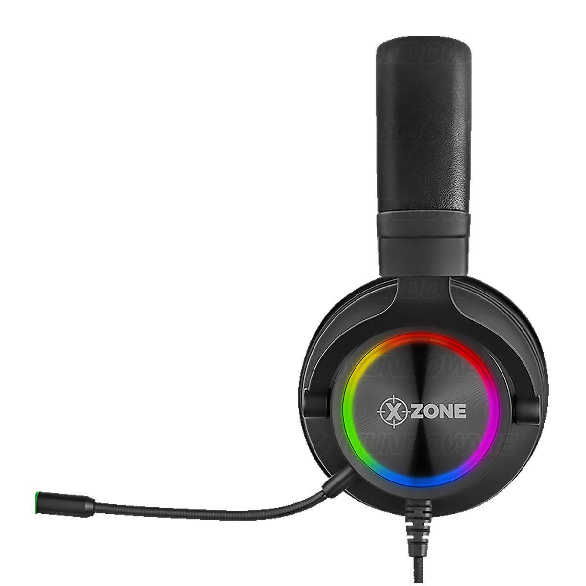 Headset Gamer com Isolamento Acústico Microfone Removível para PC XBOX PS4 Celular com Suporte para Apoio XZone GHS-01