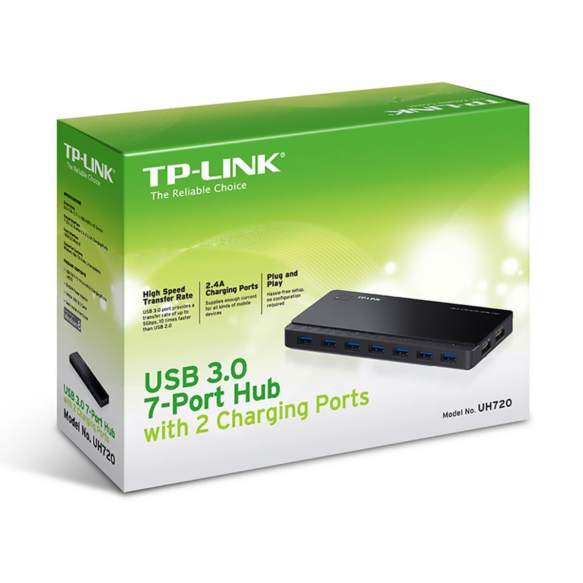Hub USB 7 Portas USB + 2 Portas de Energia TP-Link UH720 ...