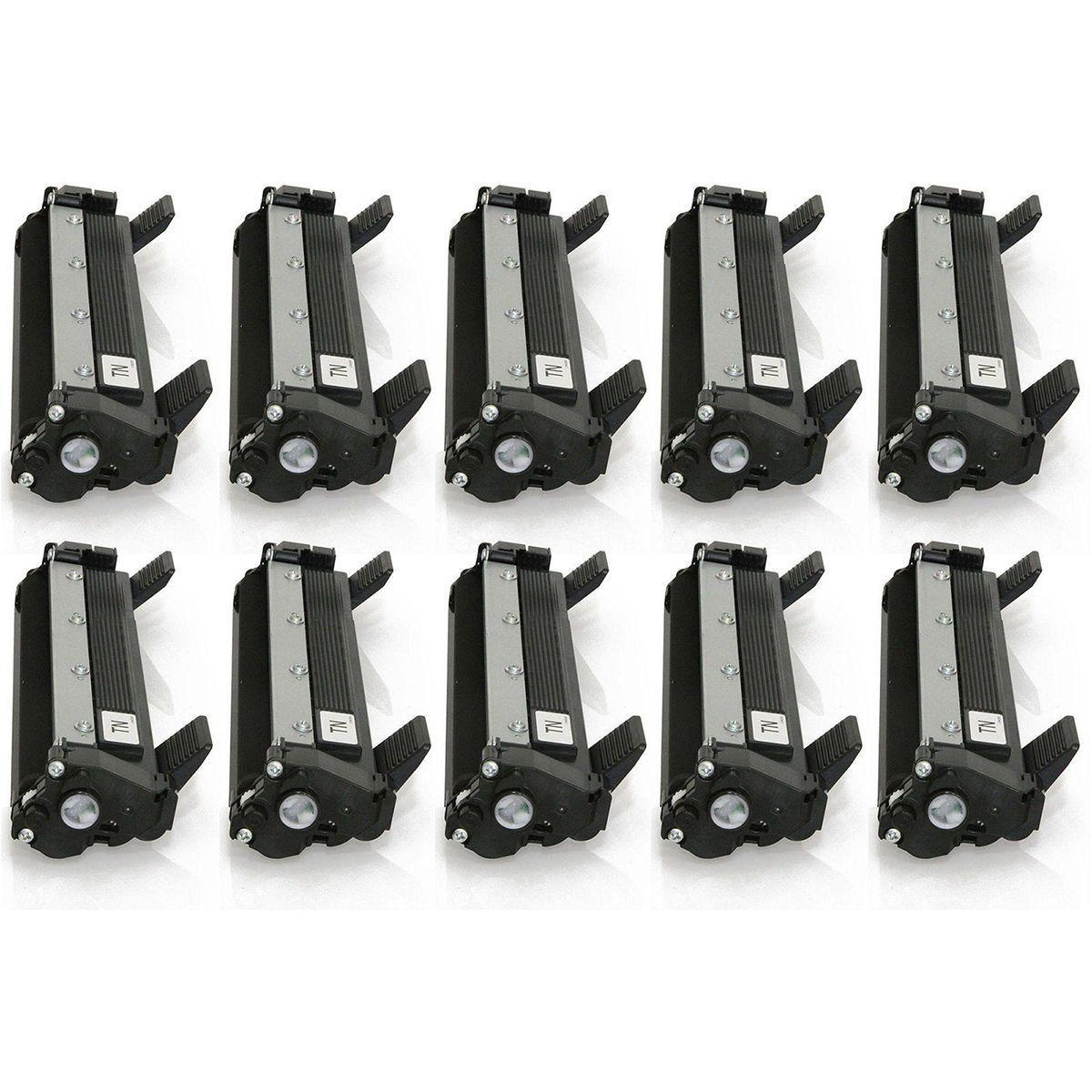 Compatível: Kit 10x Toner TN1060 TN1000 para Brother HL1210w HL1212 DCP1617 HL-1212w DCP-1612w 1617nw / Preto / 1.000