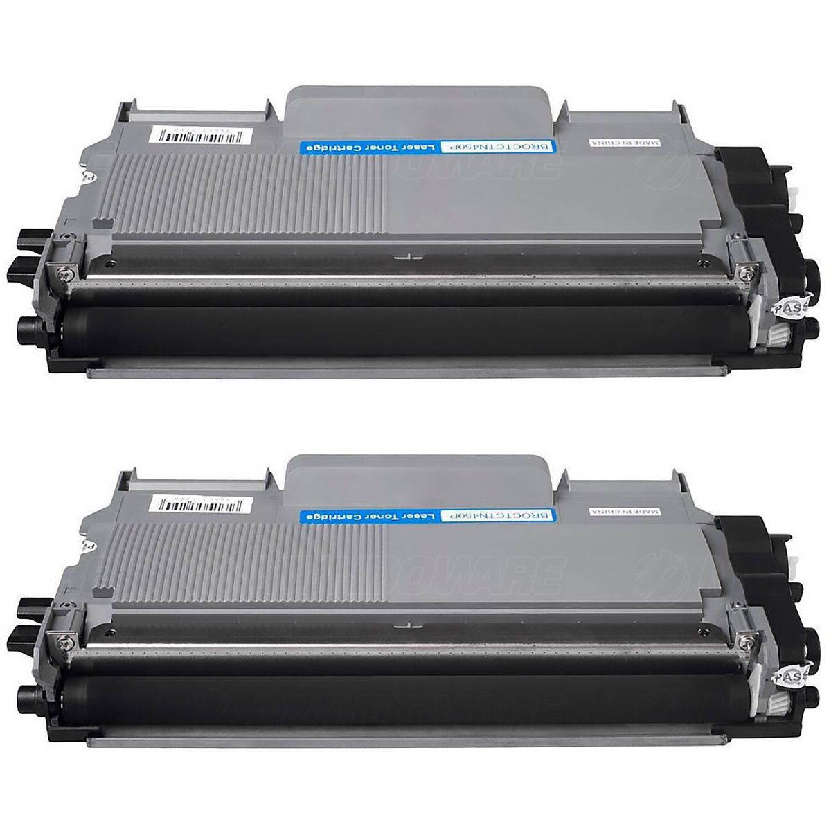 Compatível: Kit 2x Toner TN450 TN420 TN410 para Brother HL-2130 HL-2132 DCP-7055 DCP-7060 DCP-7065 / Preto / 2.600