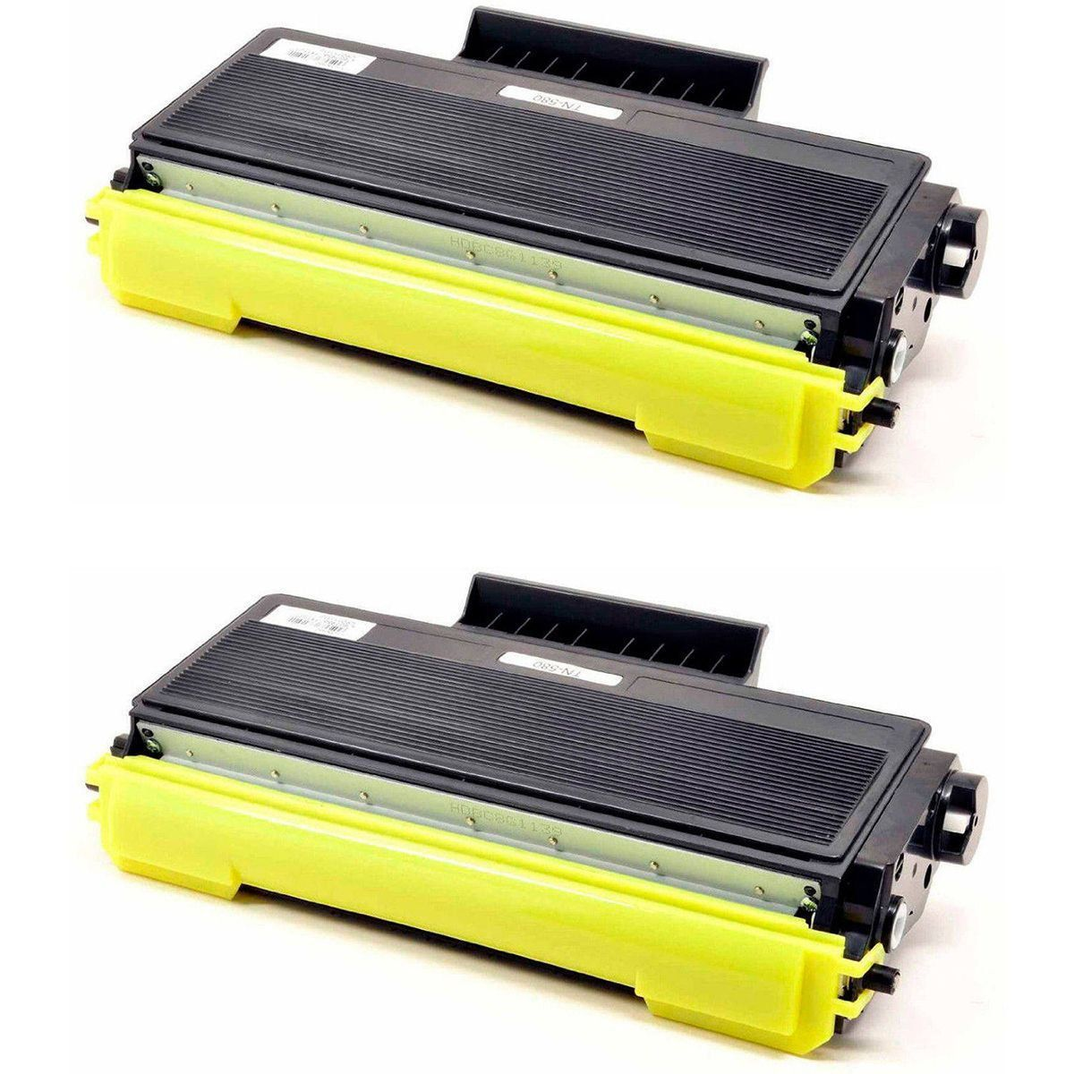 Compatível: Kit 2x Toner TN650 TN620 TN580 TN550 para Brother HL5340 HL5240 DCP-8060 8065 8080 8860 / Preto / 8.000