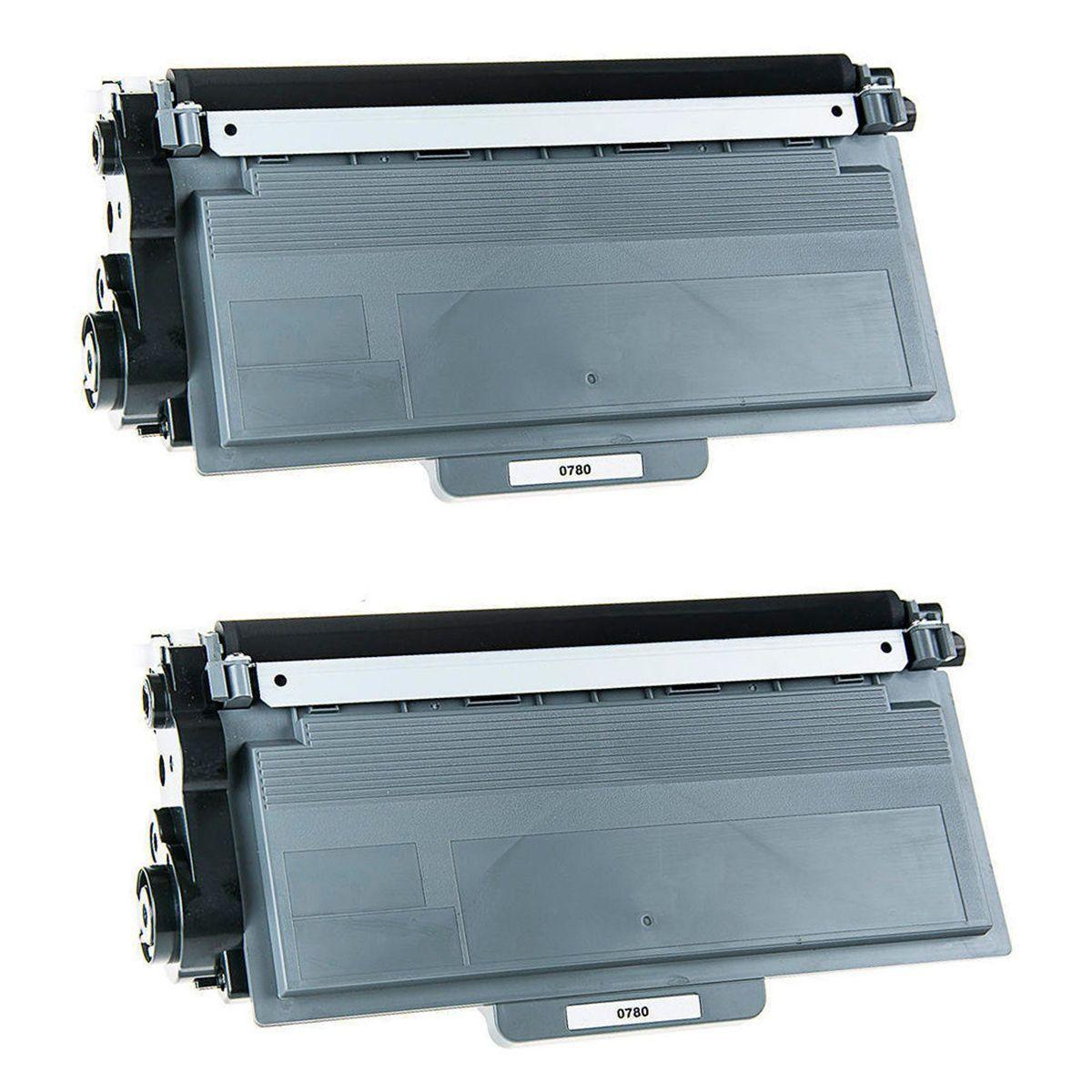 Compatível: Kit 2x Toner TN-780 TN-3392 para Brother HL-6182 6182dw DCP-8157 8157dn MFC-8712 8950 / Preto  / 12.000