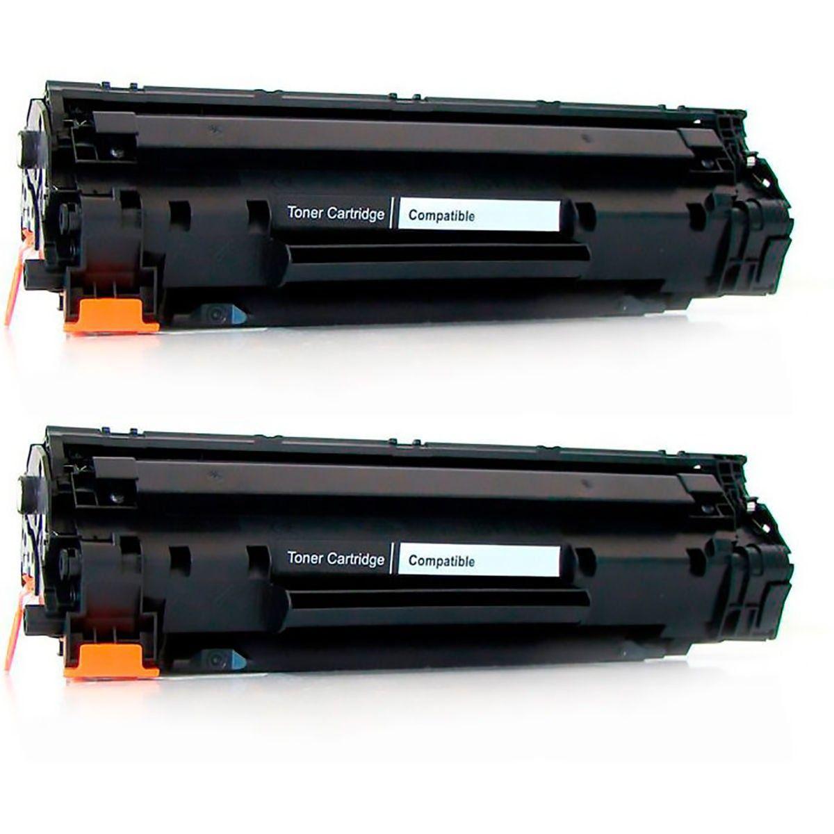 Compatível: Kit 2x Toner 283A 283 para HP M201 M202 M225 M225dw M226 M125a M126a M126nw M127fw M128fn / Preto / 1.500