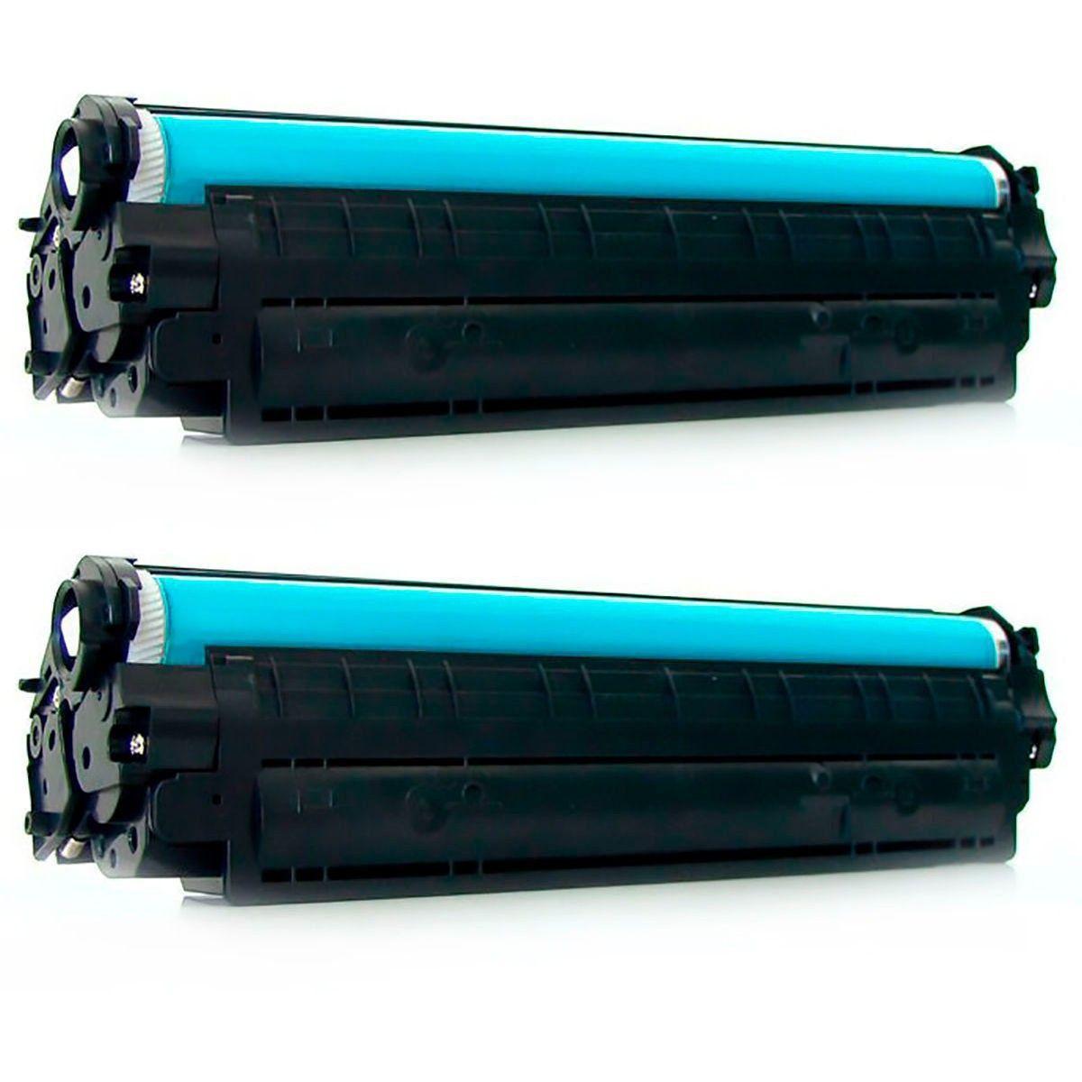 Compatível: Kit 2x Toner CE278A 278A para HP M1530 M1536 M1536dnf P1560 P1600 P1606 P1606n P1606dn / Preto / 1.800