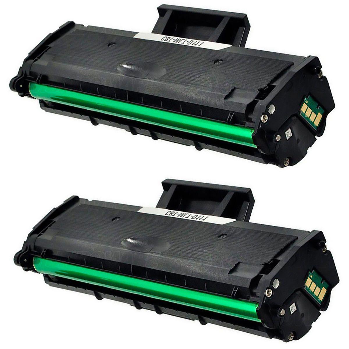 Compatível: Kit 2x Toner D111 MLT-D111S para Samsung M-2020 2020w 2020w/xaa 2020fw 2022w 2070w 2070fw / Preto / 1.000