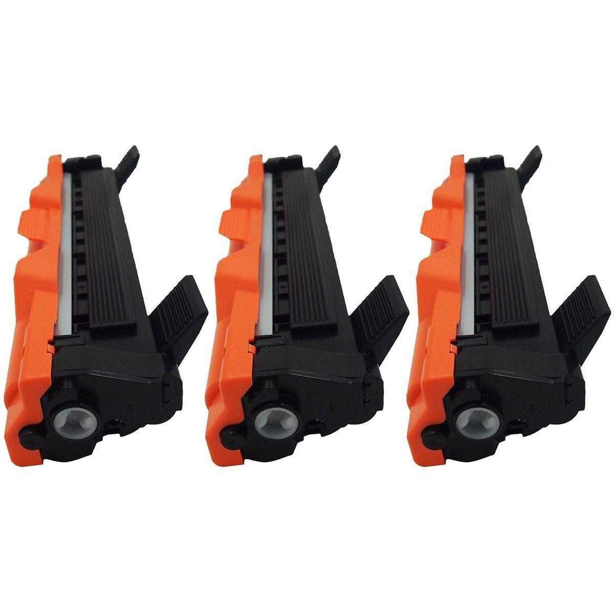 Compatível: Kit 3x Toner TN1060 para Brother DCP1612w HL1110 HL1112e HL1210w HL1212w MFC1810e DCP1617nw / Preto / 1.000