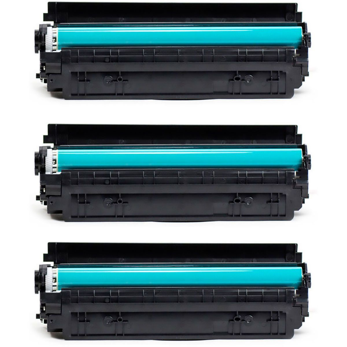 Compatível: Kit 3x Toner CF283A 83A para HP M125a M126a M126nw M127 M127fn M127fw M128fn M225 M225dw / Preto / 1.500