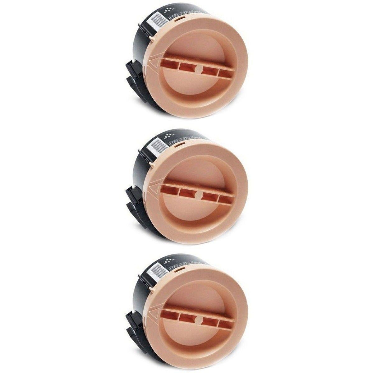 Compatível: Kit 3x Toner X3010H para Xerox Phaser 3010 3040 WorkCentre 3045 3045b 3045ni 3045bno / Preto / 2.200