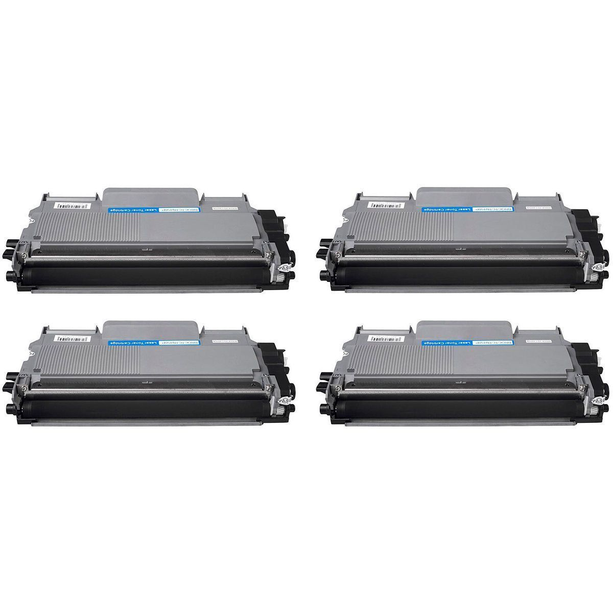 Compatível: Kit 4x Toner TN410 TN420 TN450 para Brother HL2132 HL2210 HL2250 DCP-7055 7065 7360 7860 / Preto / 2.600