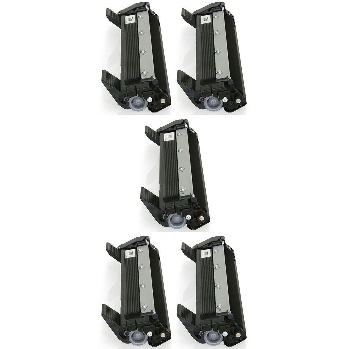 Compatível: Kit 5x Toner TN1000 TN1060 para Brother DCP-1617nw 1512r HL1212 HL1210w HL1212w DCP1617nw / Preto / 1.000
