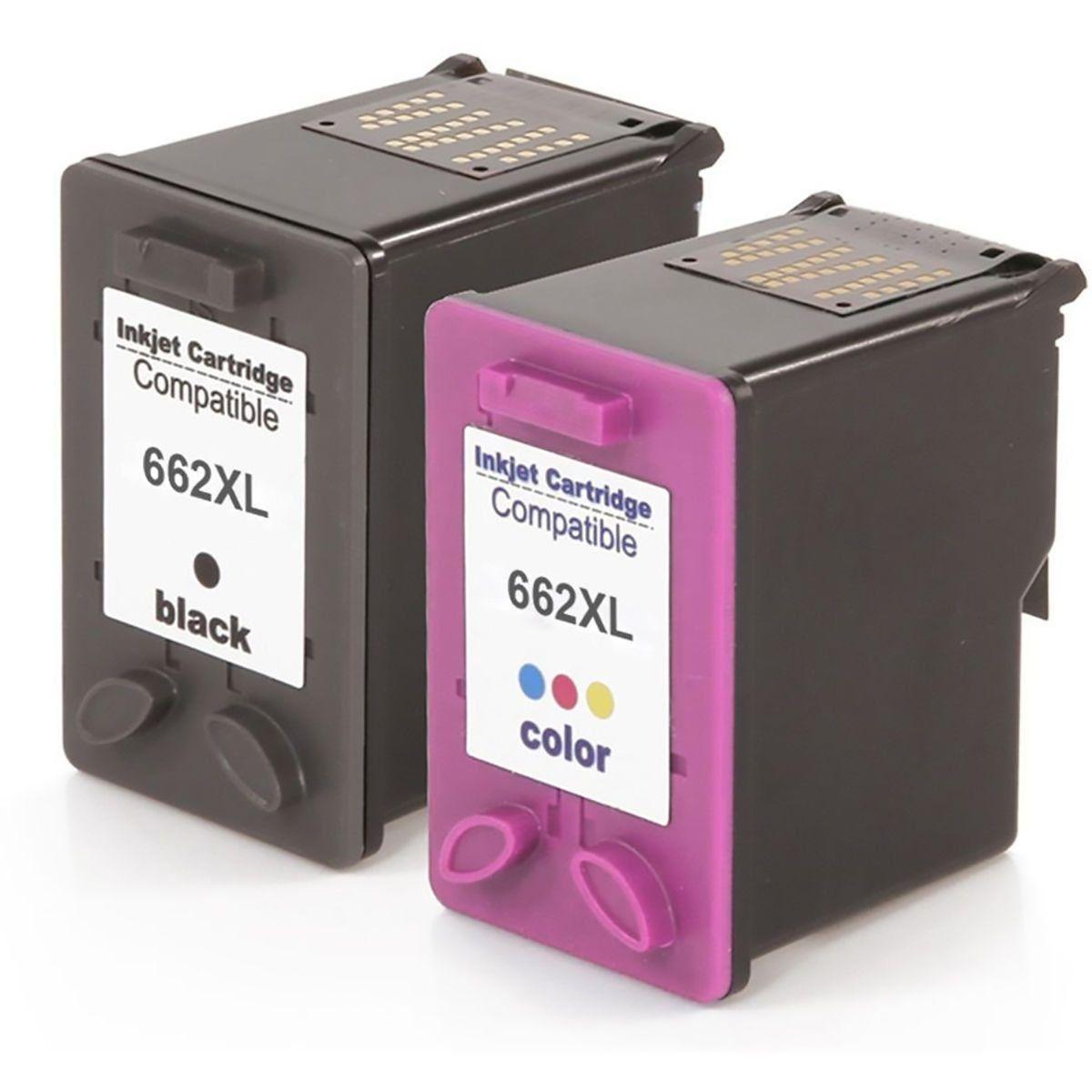 Compatível: Kit Colorido de Cartucho de Tinta 662xl 662 para Impressora HP 2515 2516 3515 1516 3546 3516 2546 4640 4646