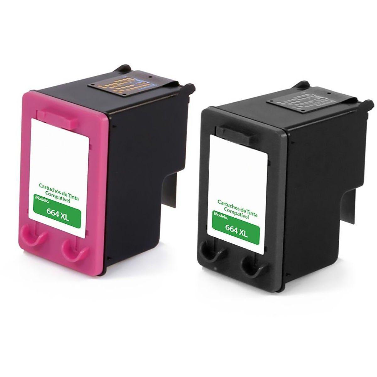Compatível: Kit Colorido de Cartucho de Tinta 664xl 664 para HP Ink Advantage 1115 2136 3635 3636 3836 3776 4676