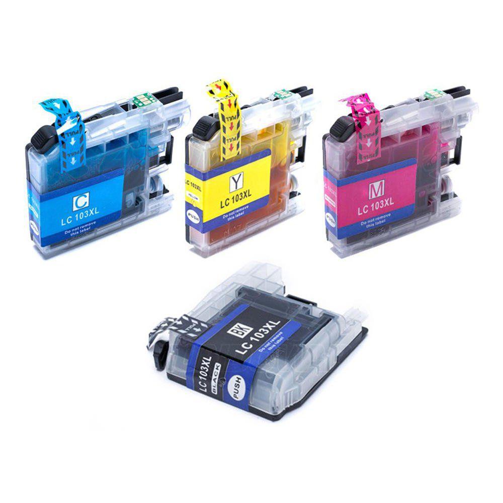 Compatível: Kit Colorido de Cartucho de Tinta LC103 LC105 LC107 XL para Brother MFC-J4310 J4510 J6520 J6720 J6920