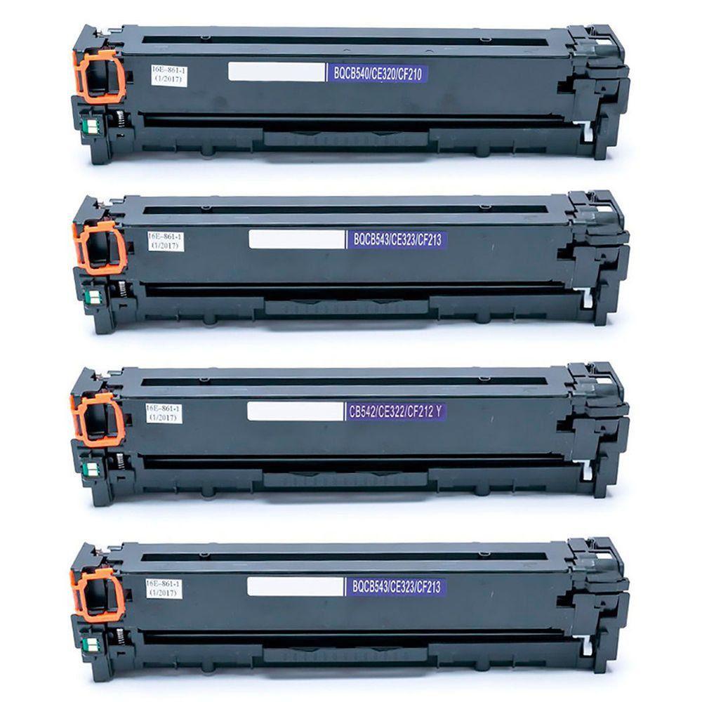 Compatível: Kit Colorido de Toner 125A 128A 131A para HP CP1215 CM1312 CM1415 CP1510 CP1525 M251 M251nw M276 M276n