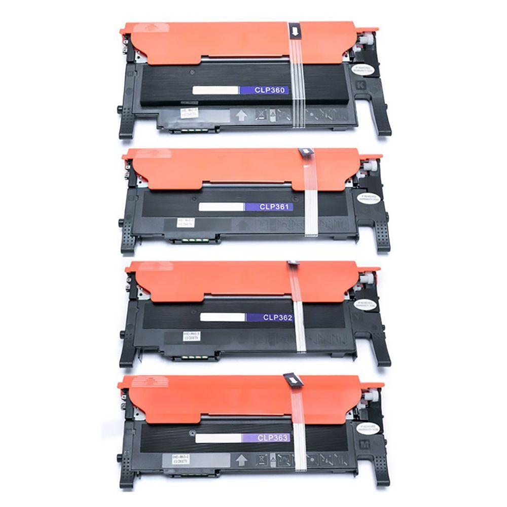 Compatível: Kit Colorido de Toner CLT-406 406S para Samsung CLP-365 CLP-365w CLX-3305w CLX-3305fw C410w C460w C460fw