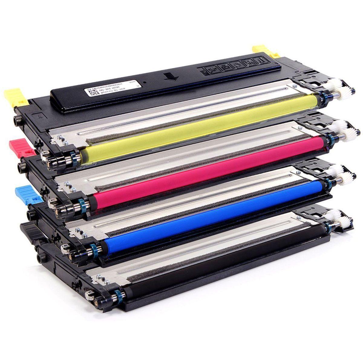 Compatível: Kit Colorido de Toner CLT-409 409S para Samsung CLX-3170 CLX-3175 CLP-310 CLP-315 3170fn 315w 3175fw