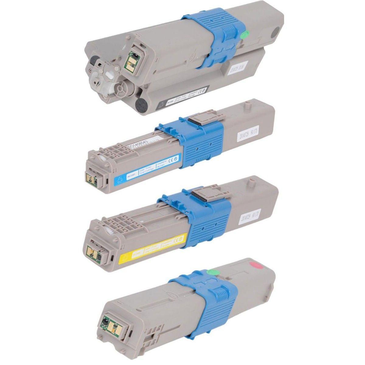 Compatível: Kit Colorido de Toner C330 C530 para Okidata MC561 MC361 C530dn C330dn MC351 C310n MC361dn C331 MC362w