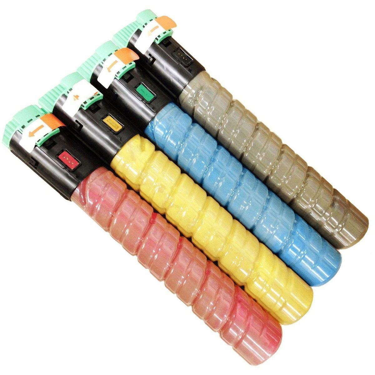 Compatível: Kit Colorido de Toner C2050 para Ricoh MPC2051 MPC2050 C2551 C2030 C2530 C2050 C2550 C2050sfp C2550spf